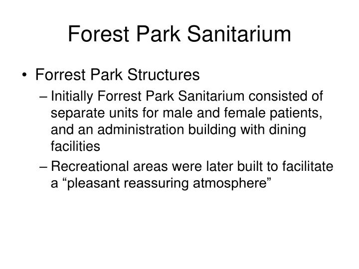 Forest Park Sanitarium