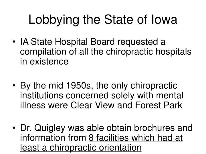 Lobbying the State of Iowa