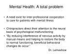 mental health a total problem