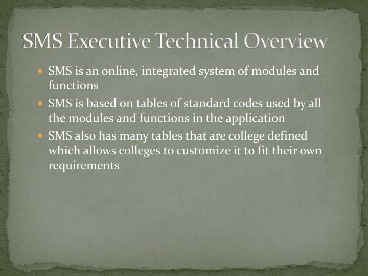Sms executive technical overview2