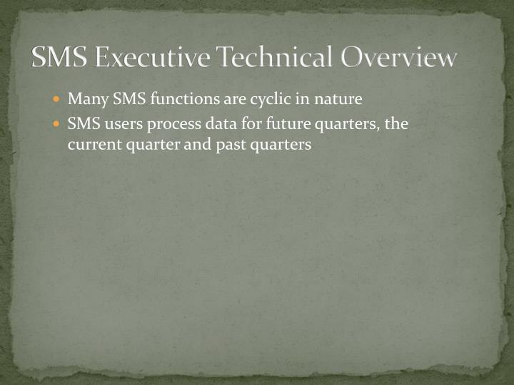 SMS Executive Technical Overview