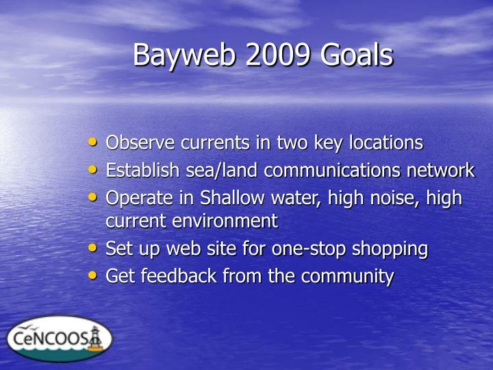 Bayweb 2009 Goals