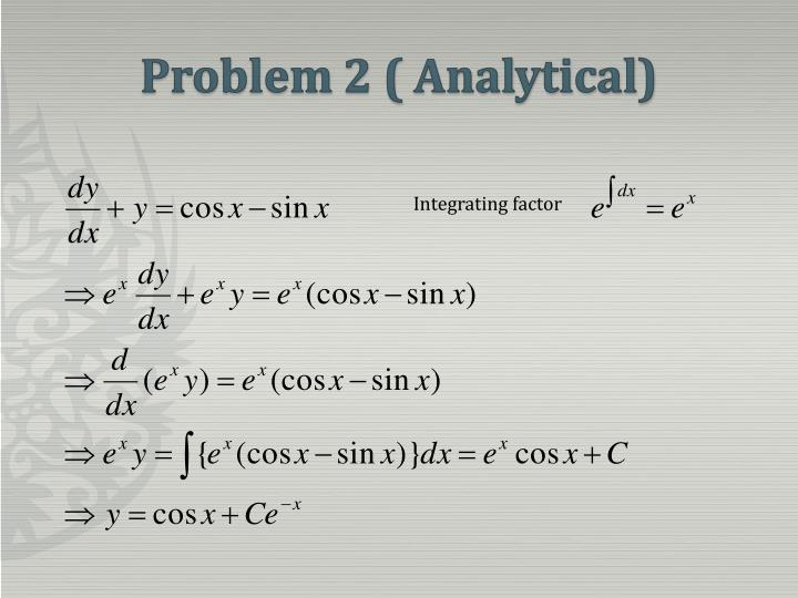 Problem 2 ( Analytical)