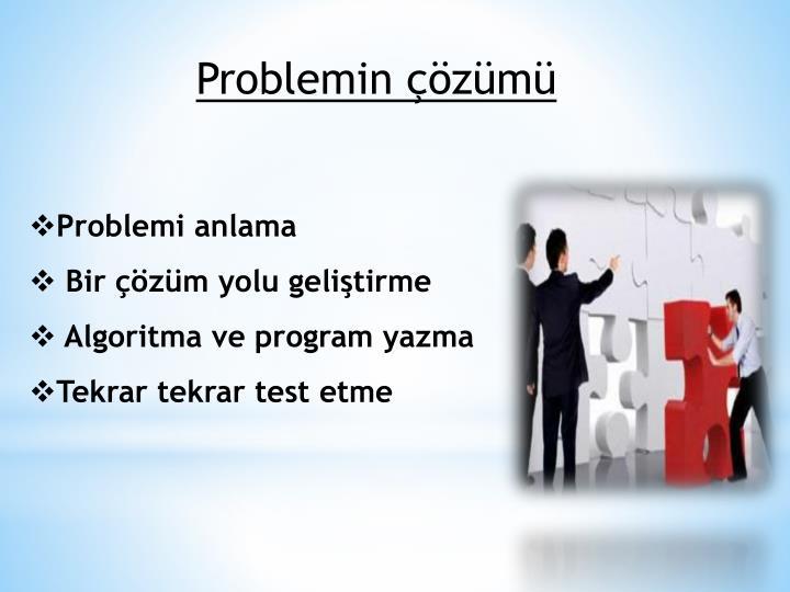 Problemin çözümü
