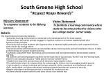 south greene high school respect reaps rewards