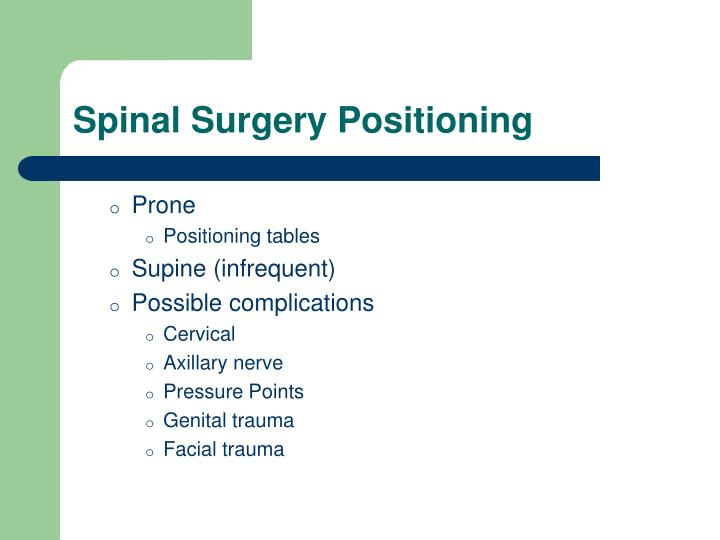 Spinal Surgery Positioning