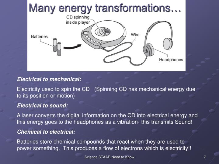 Many energy transformations…
