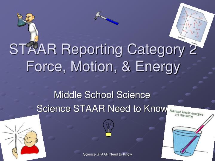 Staar reporting category 2 force motion energy