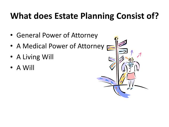 What does Estate Planning Consist of?