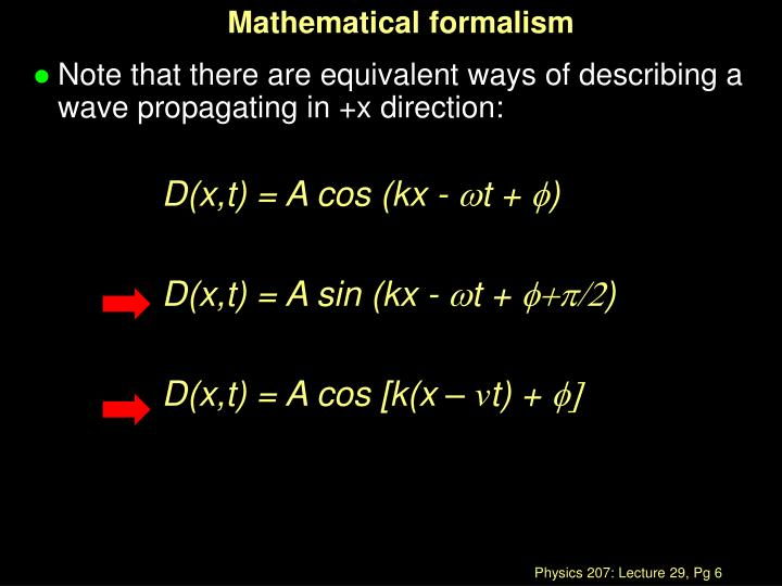 Mathematical formalism