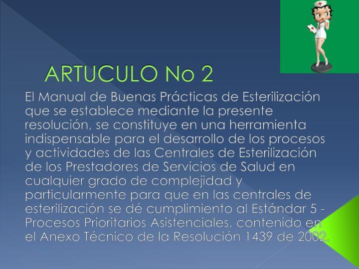 ARTUCULO No 2