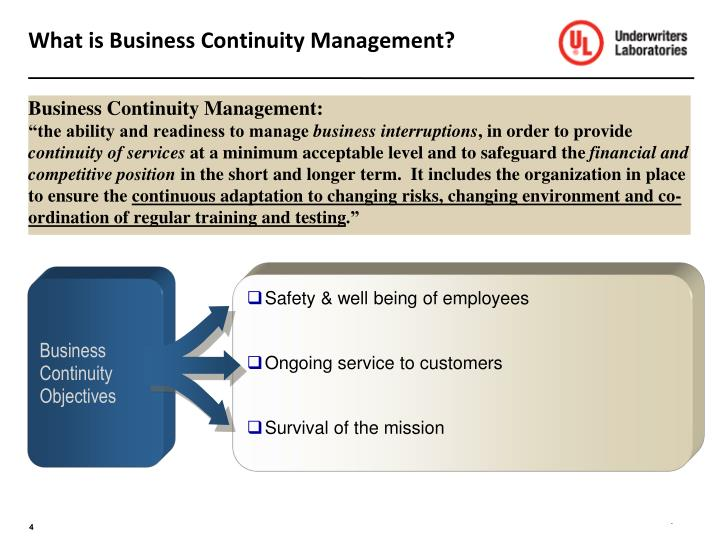 What is Business Continuity Management?