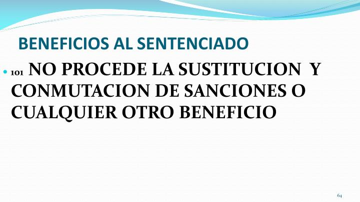 BENEFICIOS AL SENTENCIADO