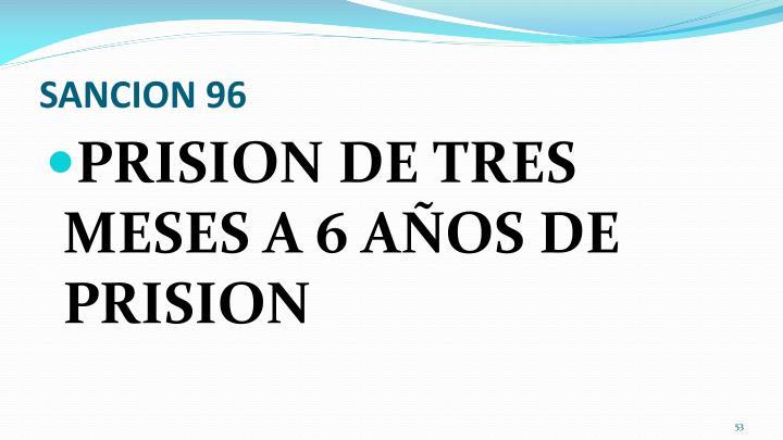 SANCION 96