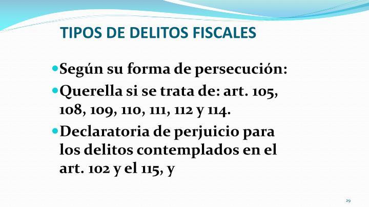 TIPOS DE DELITOS FISCALES