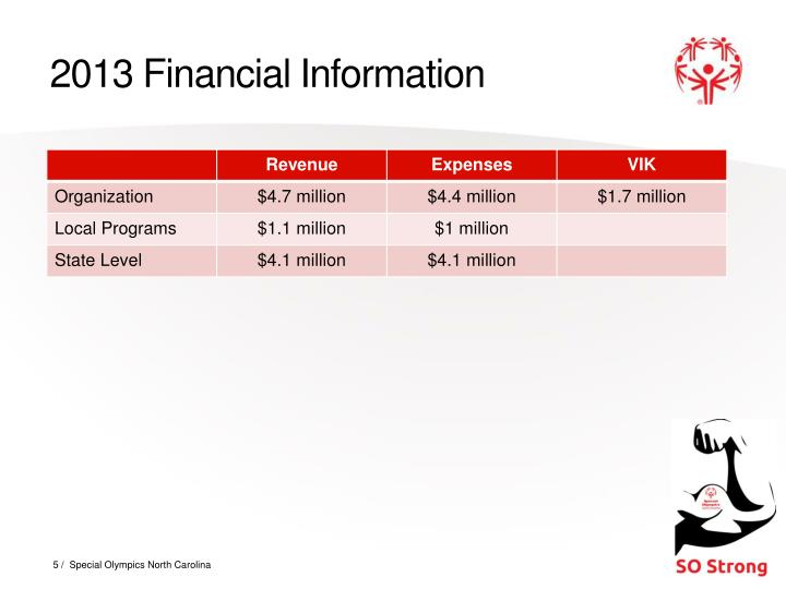 2013 Financial Information