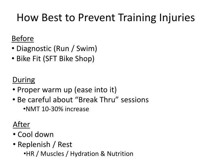 How Best to Prevent Training Injuries