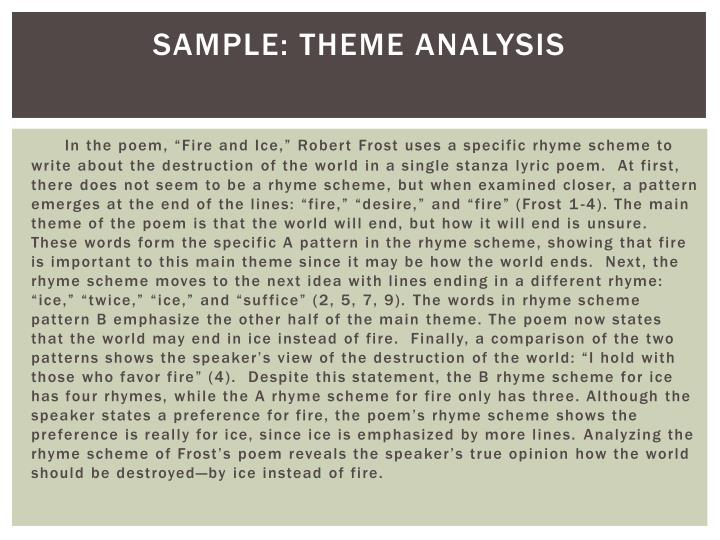 Sample: Theme Analysis
