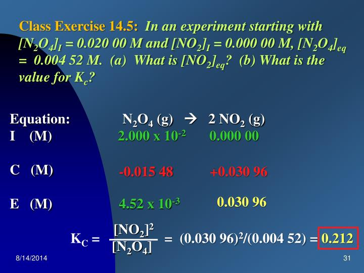 Class Exercise 14.5: