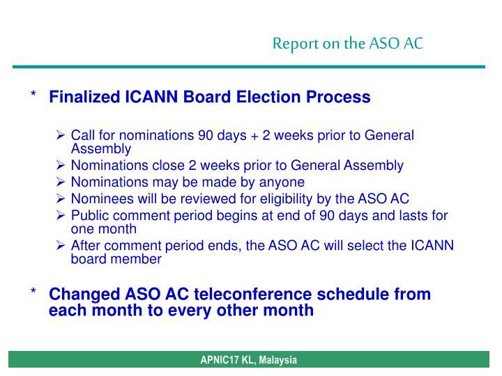 Finalized ICANN Board Election Process
