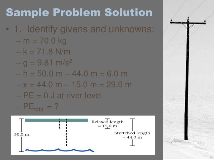 Sample Problem Solution