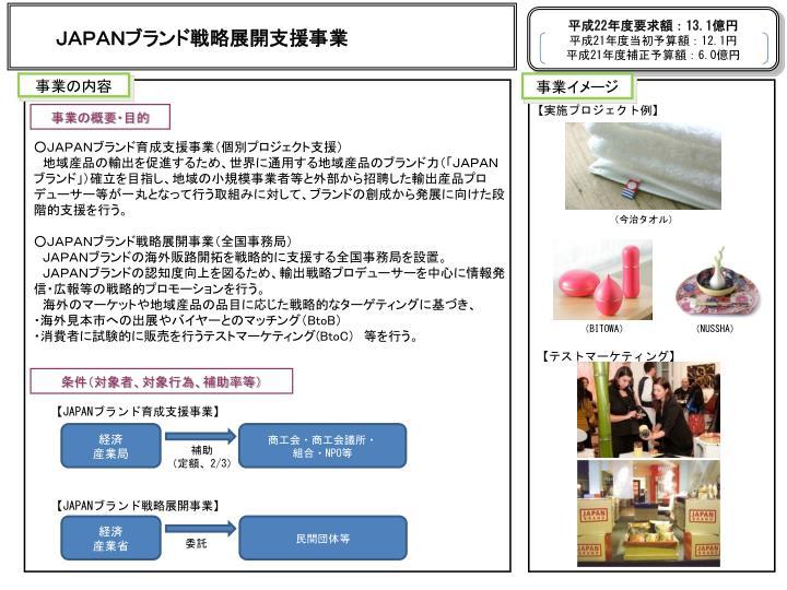 JAPANブランド戦略展開支援事業