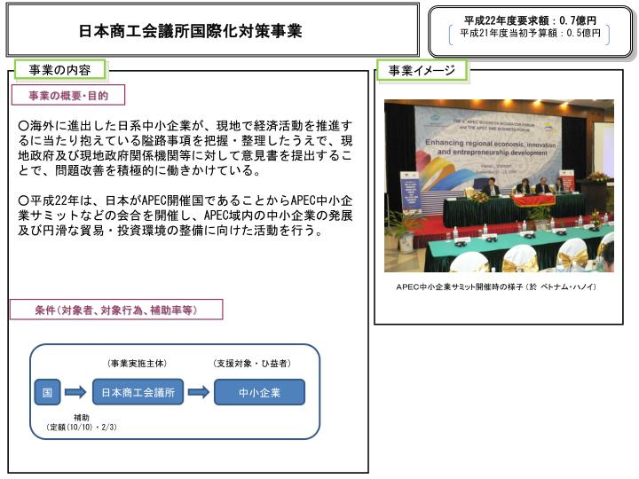 日本商工会議所国際化対策事業
