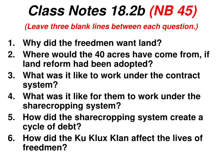 Class notes 18 2b nb 45