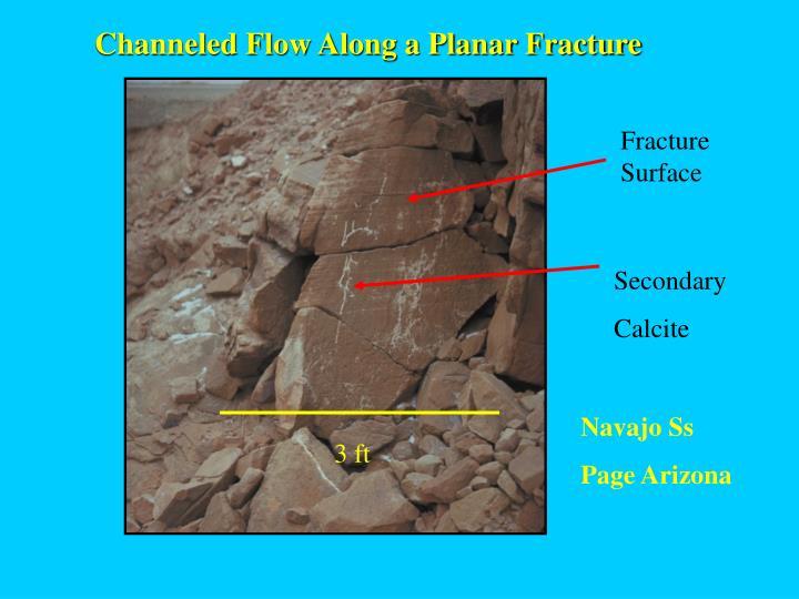 Channeled Flow Along a Planar Fracture