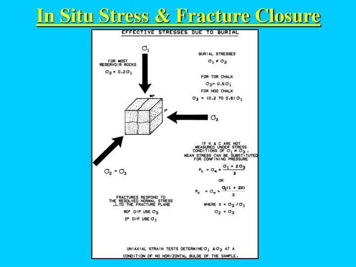 In Situ Stress & Fracture Closure