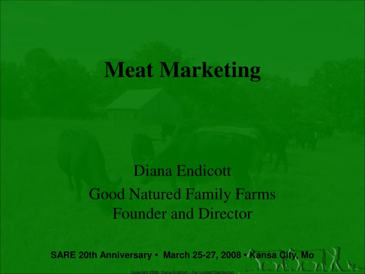 Meat marketing