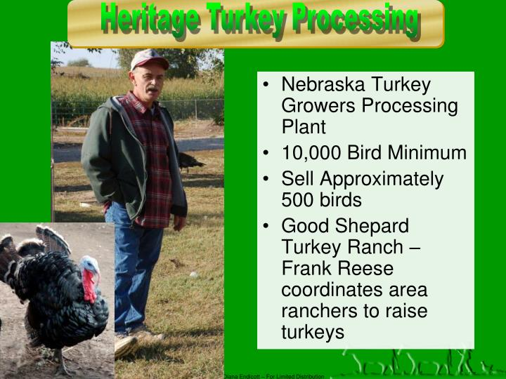 Nebraska Turkey Growers Processing Plant