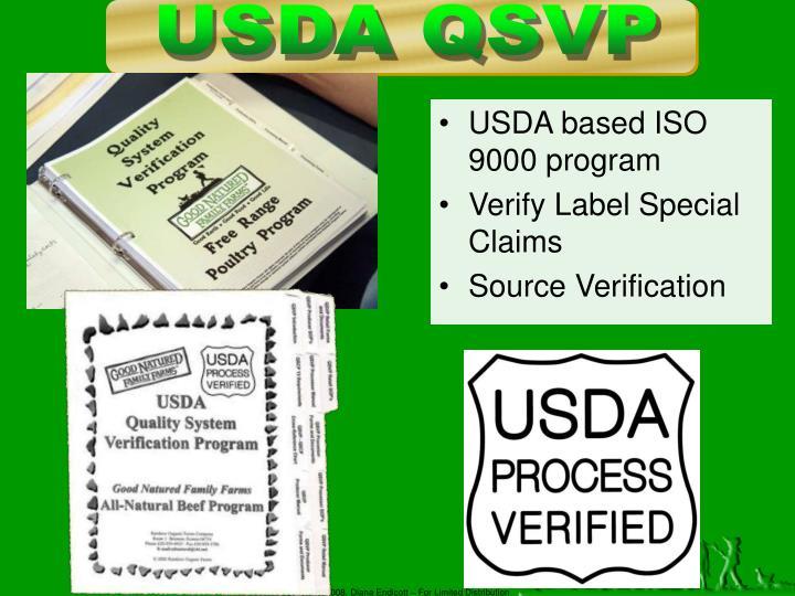 USDA QSVP