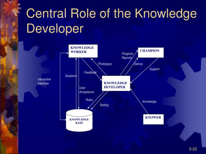 Central Role of the Knowledge Developer