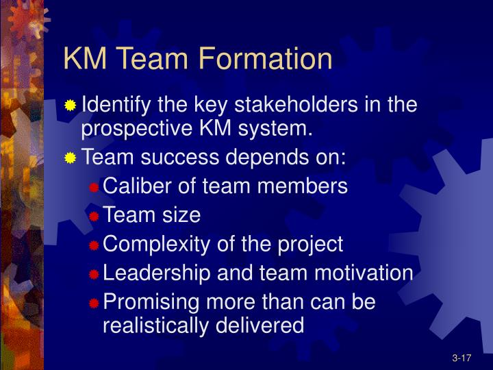 KM Team Formation