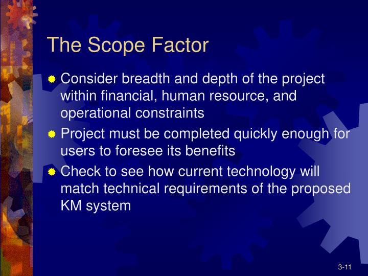 The Scope Factor