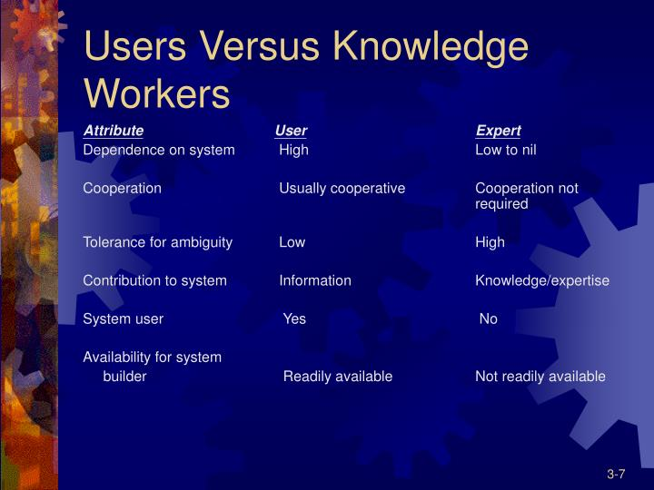 Users Versus Knowledge Workers