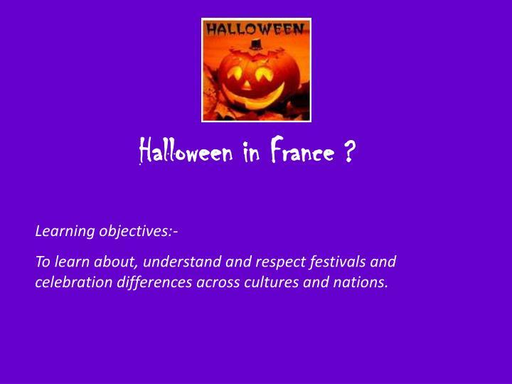 Halloween in France ?