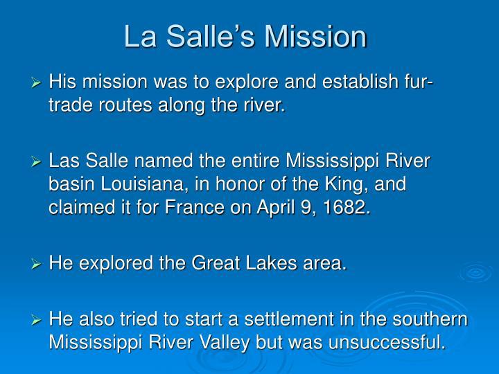 La Salle's Mission