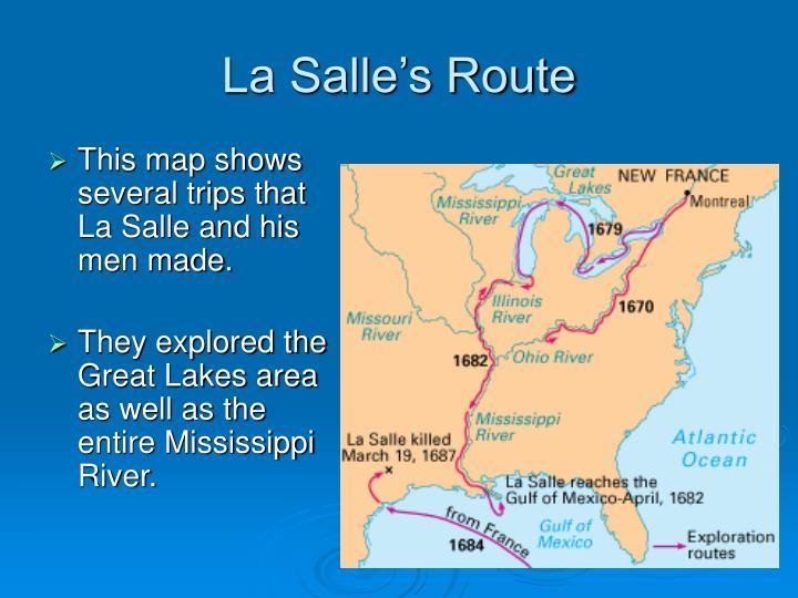 La Salle's Route