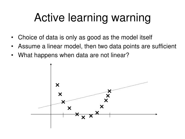 Active learning warning