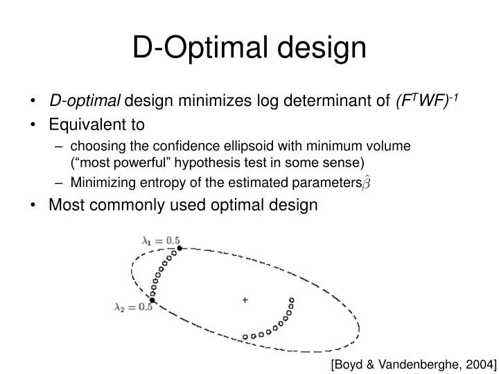 D-Optimal design