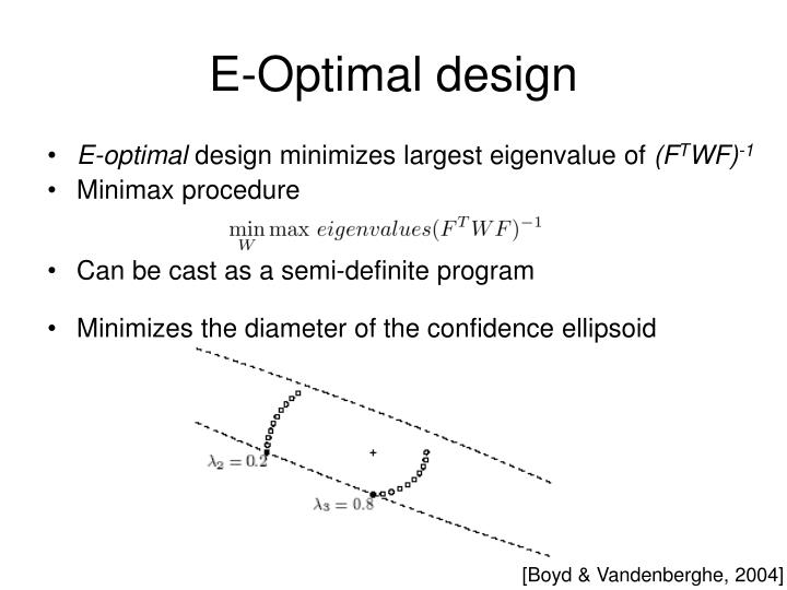 E-Optimal design