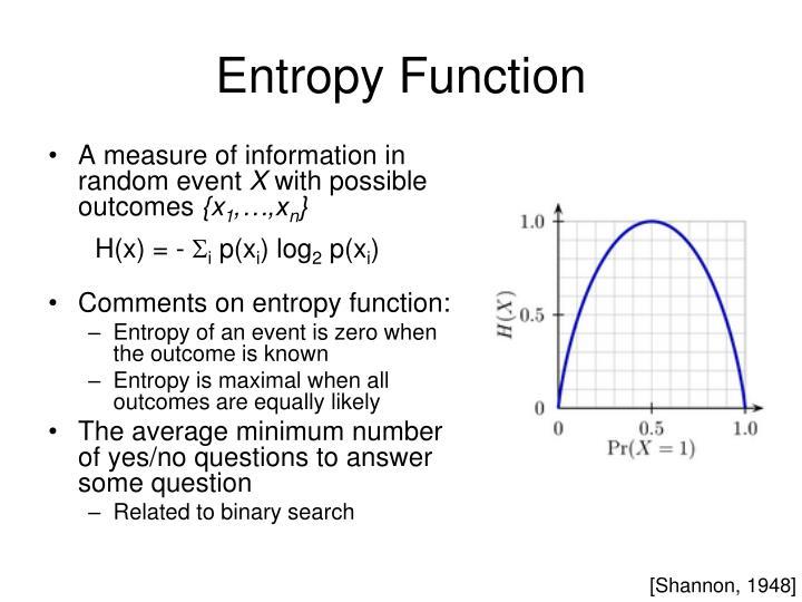 Entropy Function