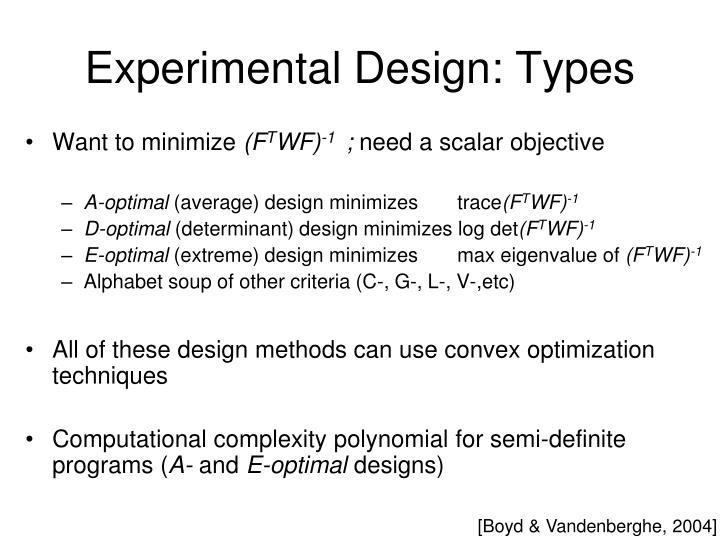 Experimental Design: Types