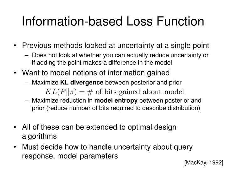 Information-based Loss Function