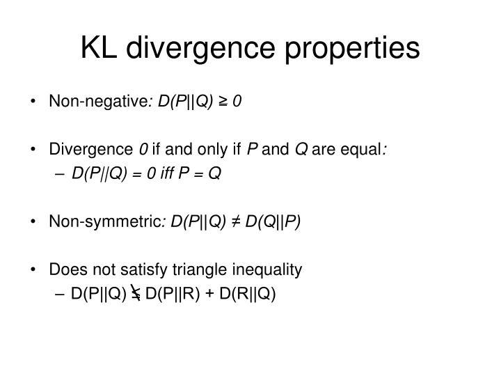 KL divergence properties
