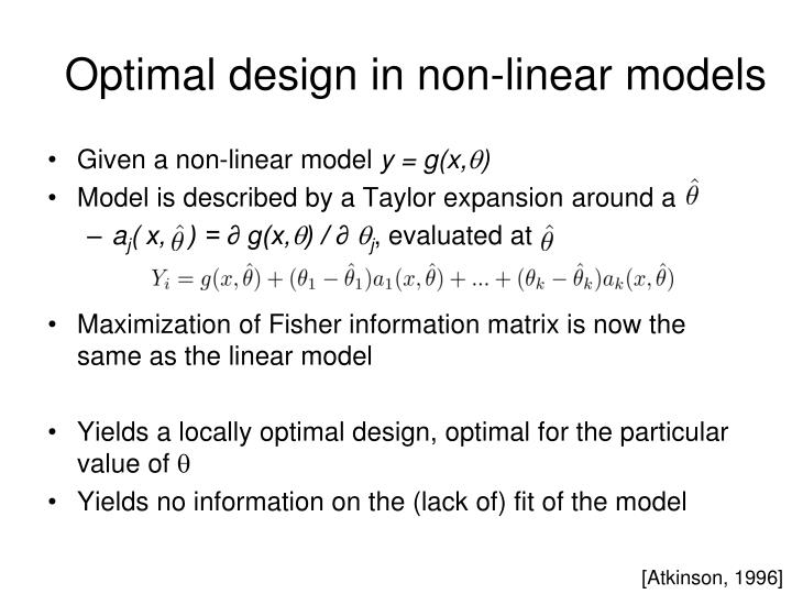 Optimal design in non-linear models