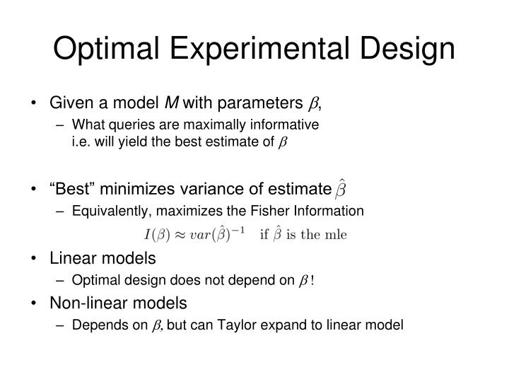 Optimal Experimental Design