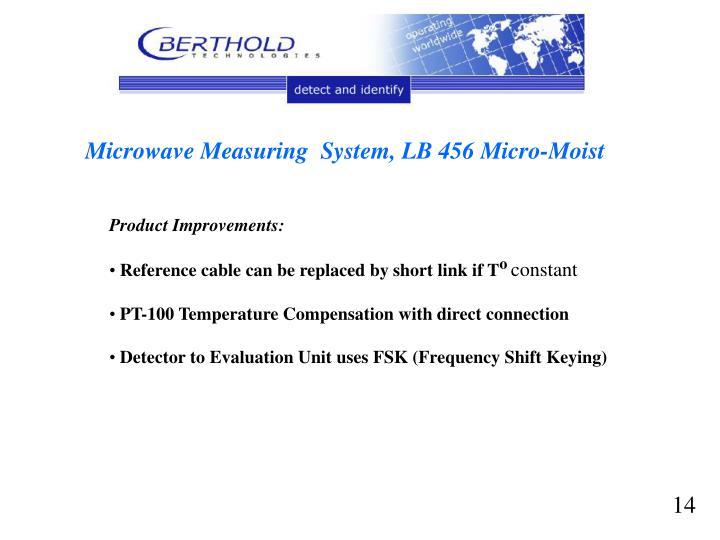 Microwave Measuring  System, LB 456 Micro-Moist